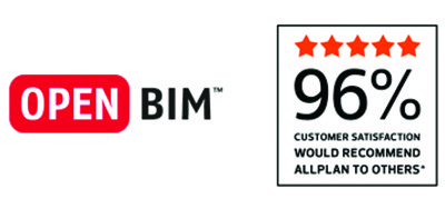 openbim in 96% customer satisfaction logo